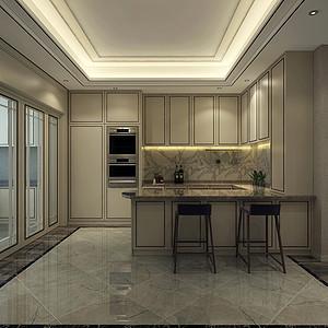 京基领墅新中式风格厨房装修效果图
