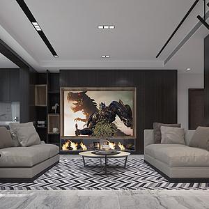 德贤公馆171平四室二厅现代风格装修案例