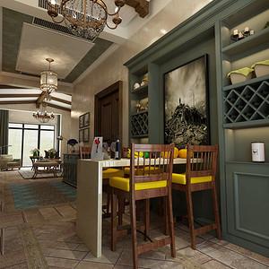 玉兰谷混搭风格餐厅
