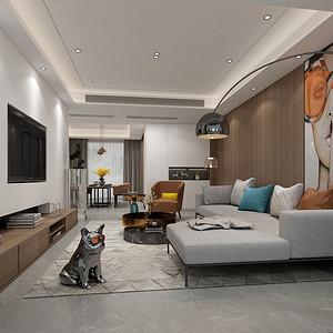华润城150平现代简约风格四室两厅装修效果图
