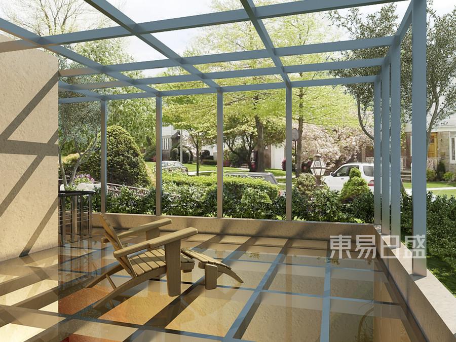 庭院效果图-新中式