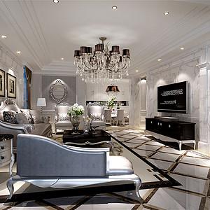 新界260㎡四居室新古典风格