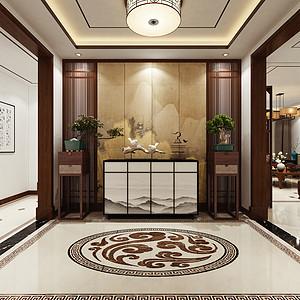 海航大院 新中式 门厅装饰