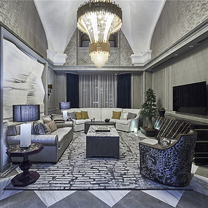 泰安道现代风格客厅装修效果图
