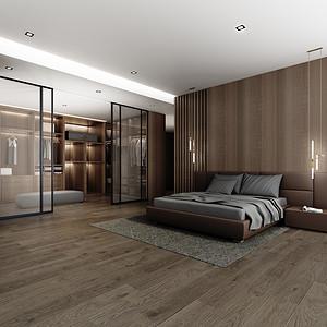 四居室-现代简约-效果图-主卧室