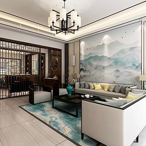 西山别墅-新中式-400平