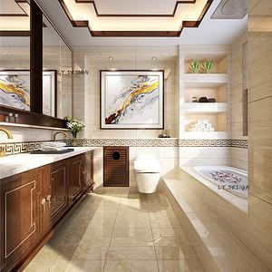 中式风格--卫生间