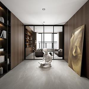 四居室-现代简约-效果图-书房