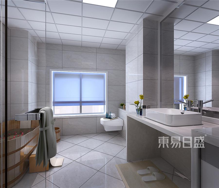 三居室-新中式-卫生间效果图