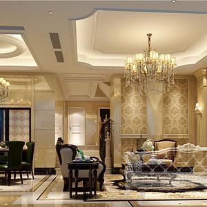 新古典跃层客厅装修设计效果图