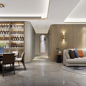新奢华风格连廊装修设计