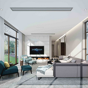 大自然别墅 现代风格装修效果图 1000平米