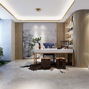 新奢华风格书房装修设计