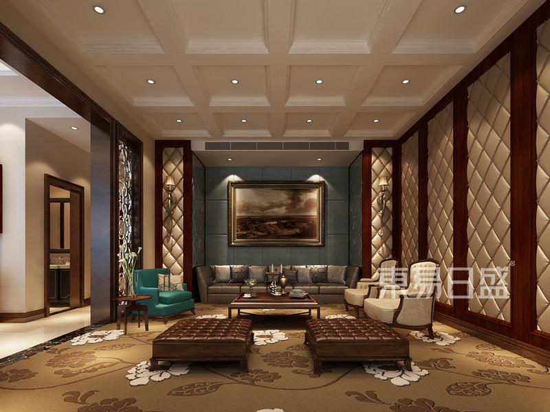 别墅新中式风格效果图