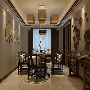 华嬉庄园中式风格餐厅装修效果图