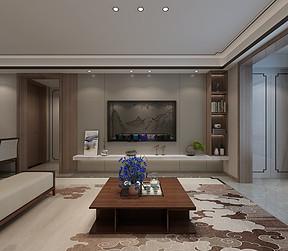 现代新中式风格客厅装修设计