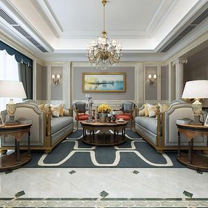 融创氿园 新古典风格 客厅