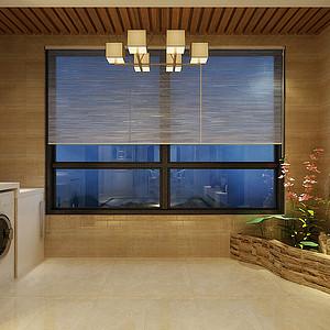 华嬉庄园中式风格生活阳台装修效果图