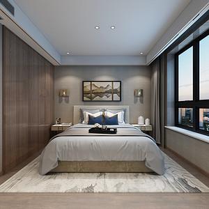 现代新中式风格卧室装修设计
