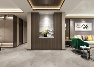 三居室-现代轻奢-玄关-效果图