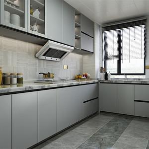三居室-现代港式-厨房-效果图