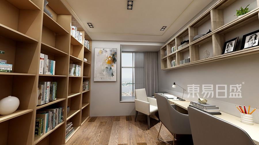 塘厦四村公寓现代轻奢书房装修效果图