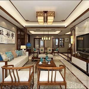 龙湖香醍 中式装修效果图 三室二厅 150㎡