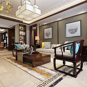 中式风格--客厅