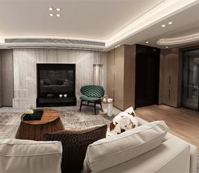 现代风格客厅跃层装修设计效果图
