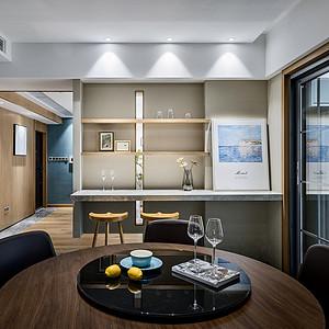 中环国际公寓现代风格餐厅装修效果图案例