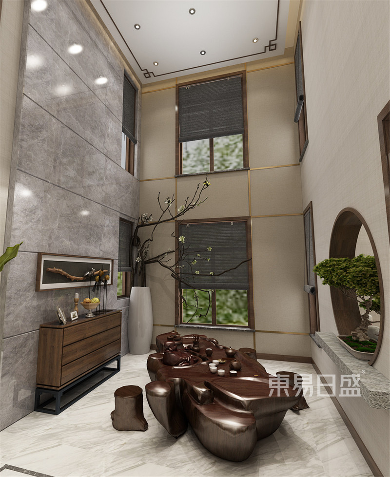 其他- 静海裕华园简约中式风格共享厅效果图