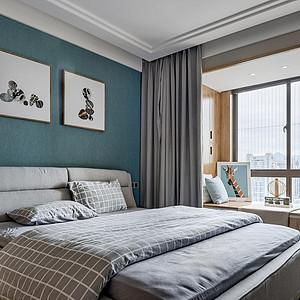 中环国际公寓现代风格卧室装修效果图案例