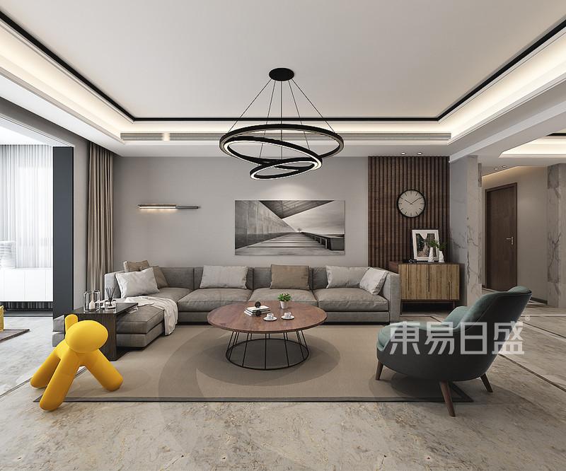 现代简约-客厅沙发背景墙效果图_装修效果图大全2018