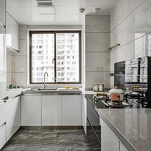 中环国际公寓现代风格厨房装修效果图案例