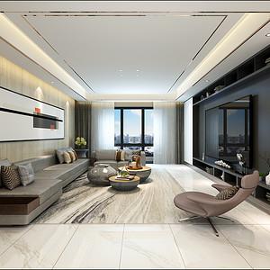 中建国熙台 现代简约装修效果图 五室二厅 213㎡