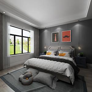 采用木地板,墙面使用线条装饰
