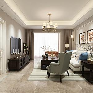 南湖艺境 简美风格装修效果图 四室两厅 140平米