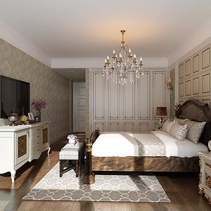 东方王府 美式风格 卧室