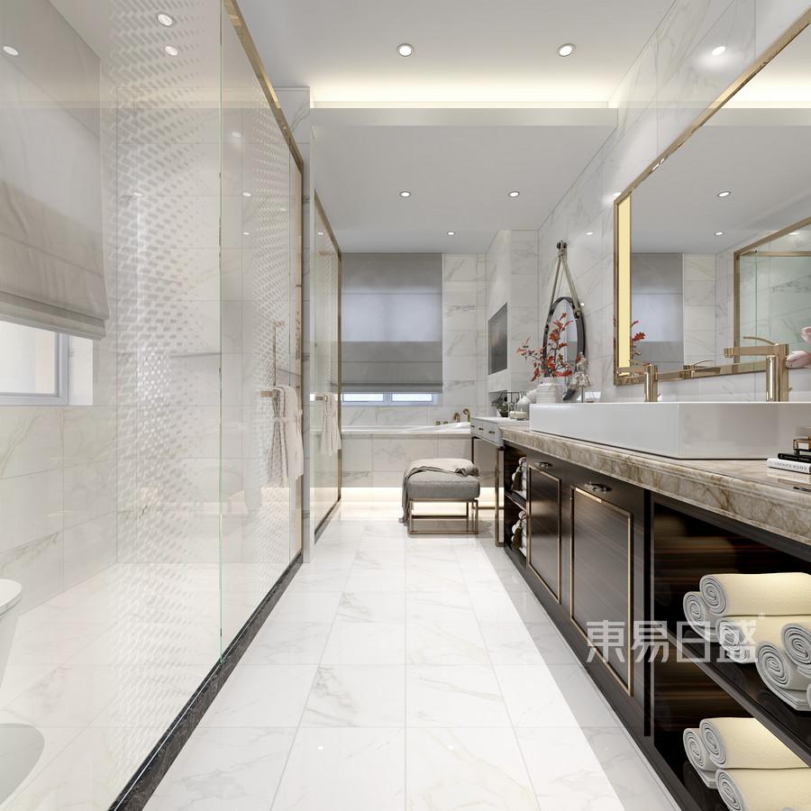 轻奢风格三层卫生间装修效果图