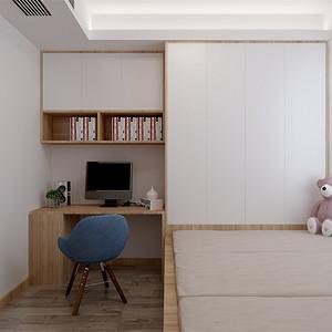 三居室-现代简约-榻榻米-效果图