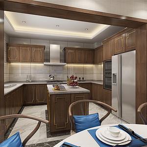 静海裕华园简约中式风格厨房装修效果图