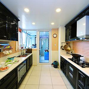 美式乡村厨房装修效果图 美式乡村厨房装修图片 美式乡村厨房装修效