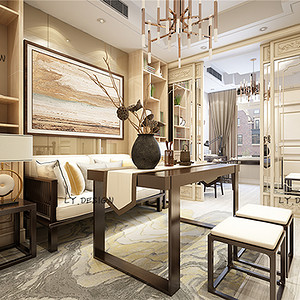 新中式风格--书房
