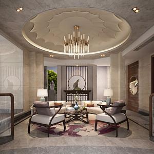 3号别墅1100㎡-新中式风格独栋别墅 装修效果图