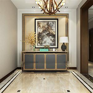俊城御墅简欧风格一层门厅装修效果图
