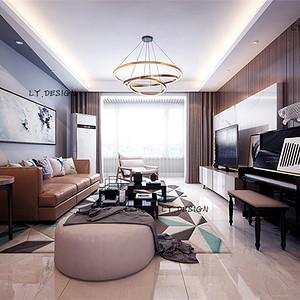 铂悦山-现代风格-133平米