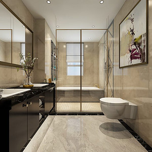 卫生间视觉与身体的双重享受,淋浴