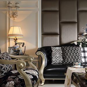 客厅古典风格装修实景图
