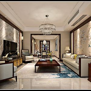丹轩梓园 简美风格装修效果图 四室二厅一厨二卫 160平米