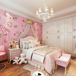 俊城御墅简欧风格二层儿童房装修效果图